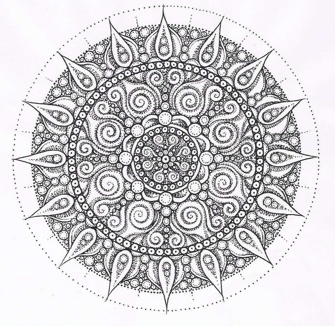 Image Detail For mandala Design Printable Coloring Pages Adults